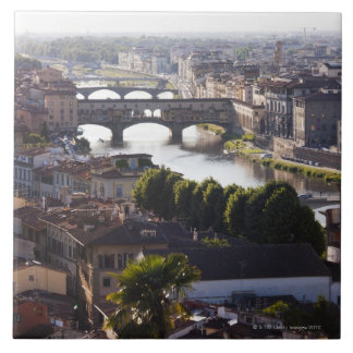 Italy, Florence, Ponte Vecchio and River Arno Tile