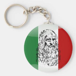 Italy glossy flag key ring