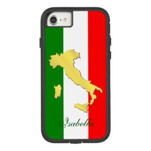Italy Italia Italian Flag Gold Country Name Case-Mate Tough Extreme iPhone 8/7 Case