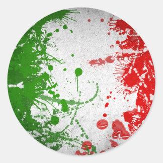 Italy line classic round sticker