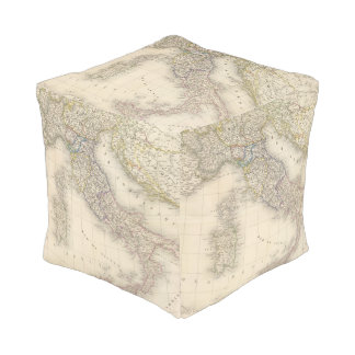 Italy Map Pouf