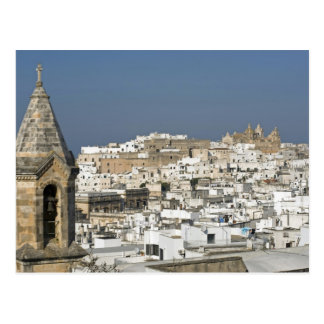 Italy, Ostuni, close up view of old city Postcard