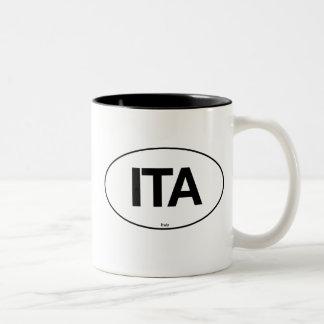 Italy Oval Two-Tone Coffee Mug