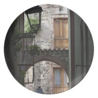 Italy, Sardinia, Bosa. Street detail. Party Plate