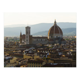 Italy, View of Florence with Basilica di Santa Postcard