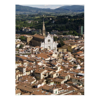 Italy, View of Florence with Church of Santa 2 Postcard