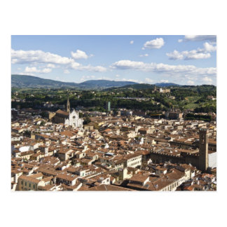 Italy, View of Florence with Church of Santa Postcard