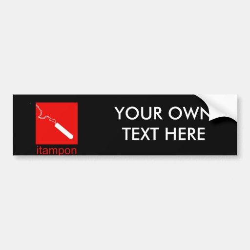 iTampon Bumper Sticker