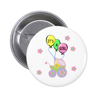 Its A Baby Girl 6 Cm Round Badge