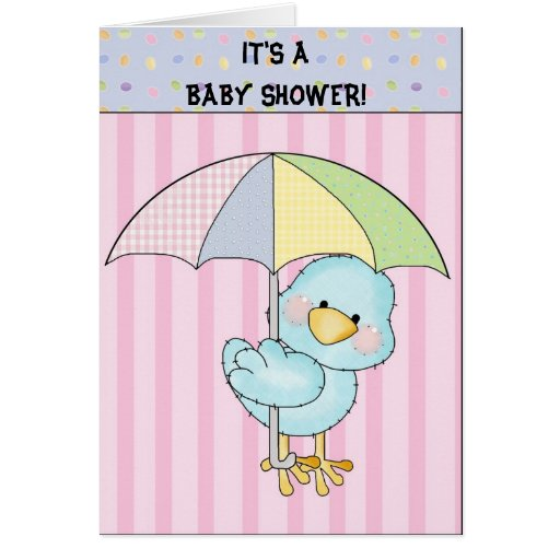 It's a baby shower! card