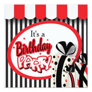 It's a Birthday Party   70th Birthday 13 Cm X 13 Cm Square Invitation Card