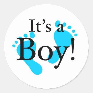 Its a Boy - Baby, Newborn, Celebration Classic Round Sticker