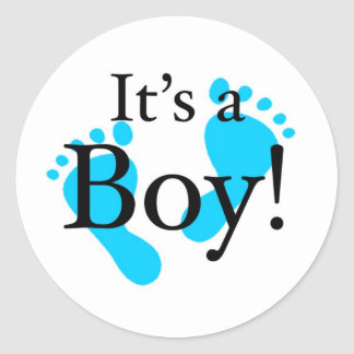 Its a Boy - Baby, Newborn, Celebration Round Sticker