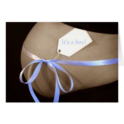 """""""It's a boy!"""" Baby Shower Invitation Greeting Cards"""