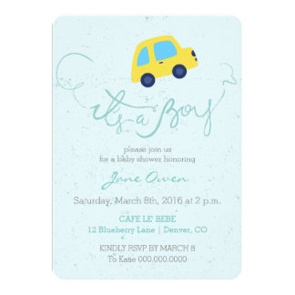 custom bus invitations announcements