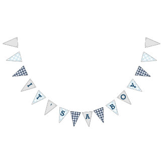 It's a Boy | Country Gingham Baby Shower Bunting