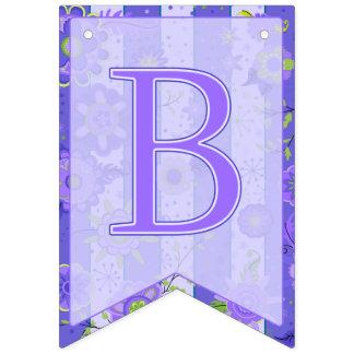 It's A Boy! Elephant Flowers  Purple Swallowtail Bunting