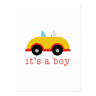Its A Boy Postcard