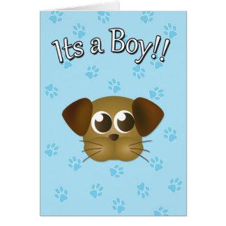 Its a Boy Puppy Card