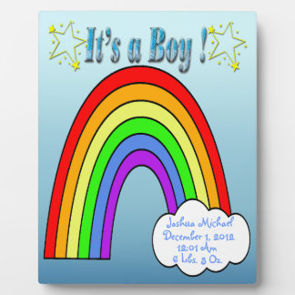 It's a Boy - Rainbow Keepsake Plaque With Easel