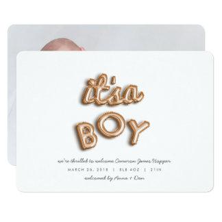 its a boy! Rose gold. Card