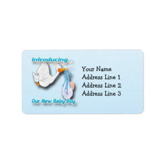 It's a Boy Stork Birth Announcement Address Labels