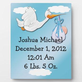 It's A Boy - Stork Keepsake  Plaque With Easel
