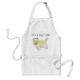 It's a Dog's Life Cute Westie Dog Art Quote Design Standard Apron