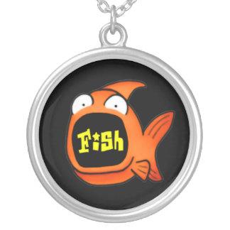 It's A Fish Round Pendant Necklace
