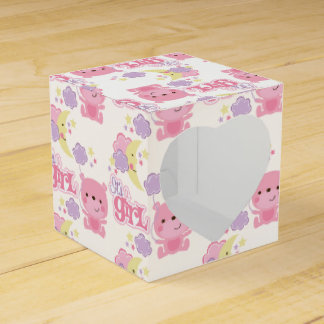 It's A Girl Bunny & Moon Party Favour Box