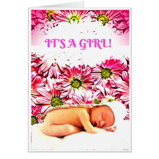 'It's a girl!' card