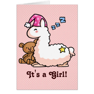 It's a Girl Llama! Card
