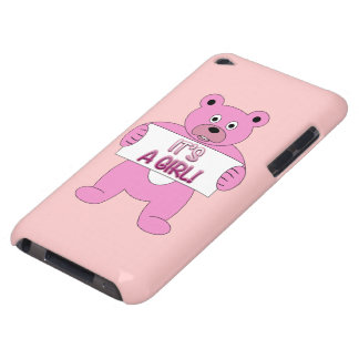 It's A Girl Pink Bear iPod Case-Mate Cases