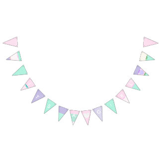"""It's a Girl"" Pink, Purple and Green Flag Garland"