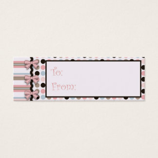 It's a Girl! Skinny Gift Tag Mini Business Card