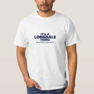 It's a Lonsdale Thing Surname T-Shirt