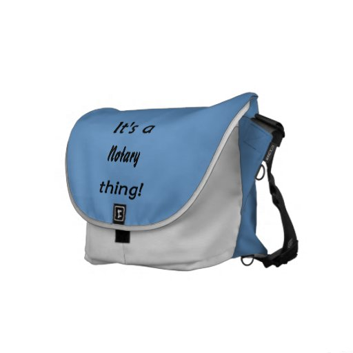 it's a notary thing commuter bag
