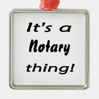 it's a notary thing Silver-Colored square decoration