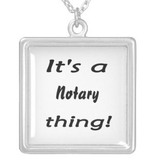 it's a notary thing silver plated necklace