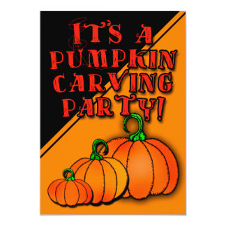 It's a Pumpkin Carving Party!  Party Invitations