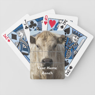 It's a Roundup! Cattle - Your Name Ranch Western Poker Deck