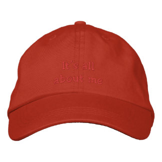 Its all about me cap embroidered hats