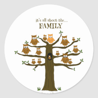 It's All About the Family Classic Round Sticker