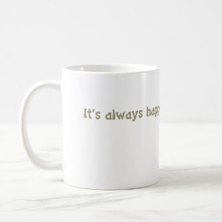 it's always happy hour @ the library coffee mug