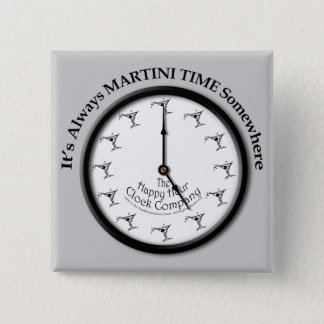 IT'S ALWAYS MARTINI TIME SOMEWHERE BUTTON (Sq)