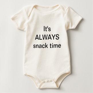 It's ALWAYS snack time Baby Bodysuit