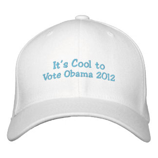 It's Cool to Vote Obama 2012 Embroidered Baseball Cap