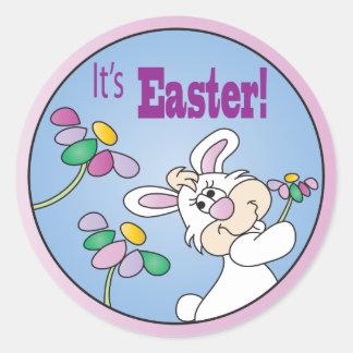 It's Easter   Bunny Rabbit Round Sticker