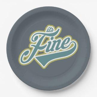 It's Fine - Paper Plates