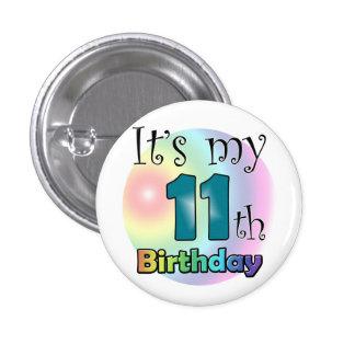 It's my 11th Birthday (Blue) 3 Cm Round Badge